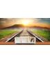 Ταπετσαρία Τοίχου Γραμμές τρένου Ηλιοβασίλεμα