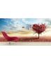 Ταπετσαρία Τοίχου Ροζ-Φούξια Δέντρο Φθινόπωρος