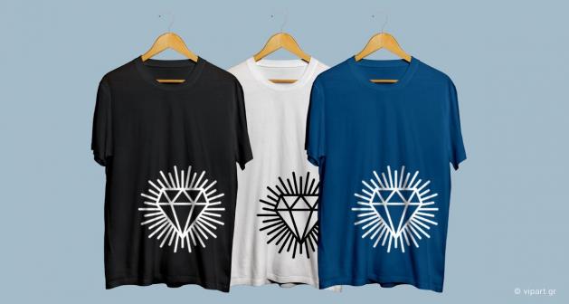 Εκτύπωση σε μπλουζάκι Διαμάντι Hipster Style