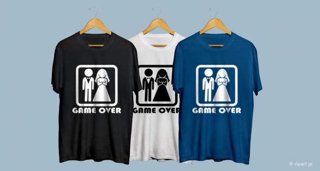 Εκτύπωση σε μπλουζάκι Game Over Married Bachelor