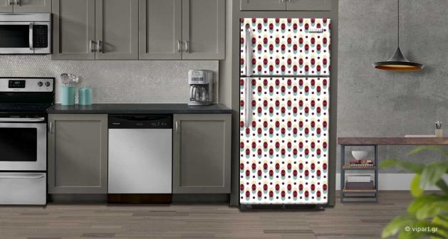 """Αυτοκόλλητο Ψυγείου """" Retro Style Cycles """""""