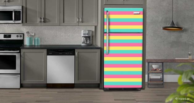 """Αυτοκόλλητο Ψυγείου """"Colored Lines"""""""