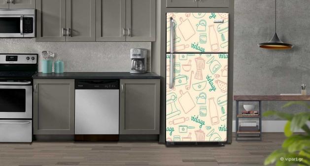 """Αυτοκόλλητο Ψυγείου """"Pink Sketch"""""""