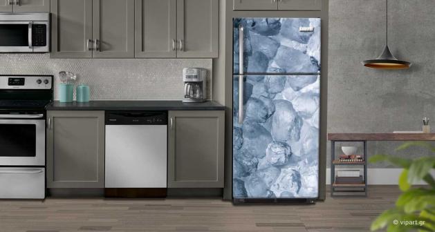 """Αυτοκόλλητο Ψυγείου """"Παγάκια"""""""