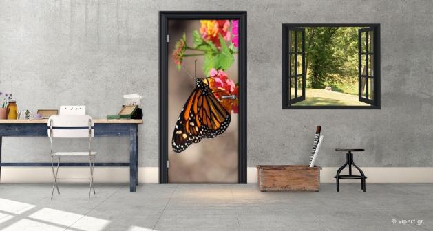"""Αυτοκόλλητο Πόρτας """"Πεταλούδα"""""""