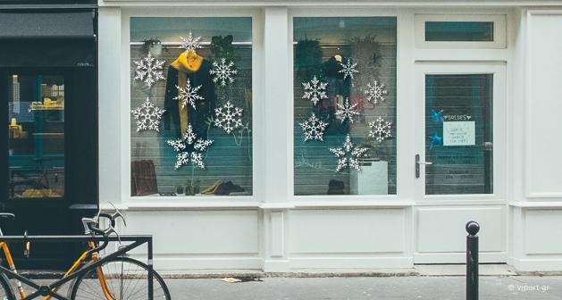 """Αυτοκόλλητο Χριστουγέννων """"Snowflakes"""""""