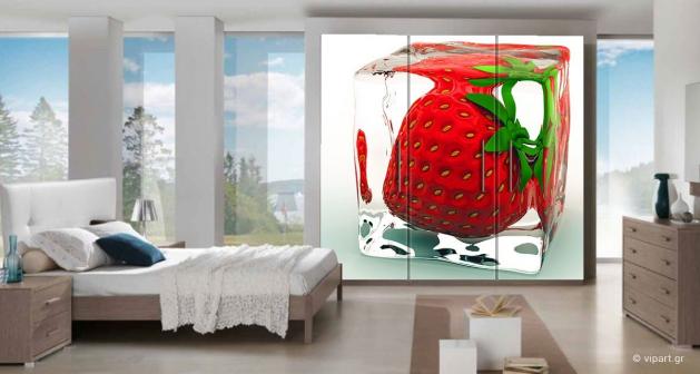 """Αυτοκόλλητο Επίπλων """"Frozen Strawberry"""""""