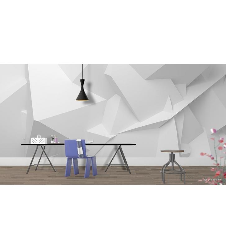 Ταπετσαρία Τοίχου 3D White