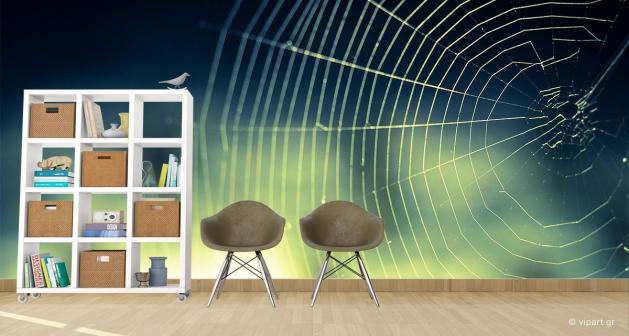 Ταπετσαρία Τοίχου Ιστός Αράχνης
