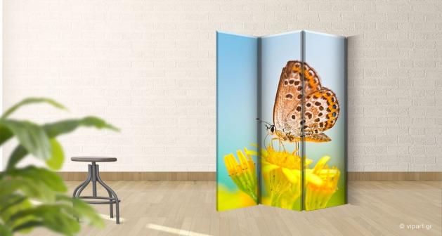 Παραβάν Τρίπτυχο Butterfly