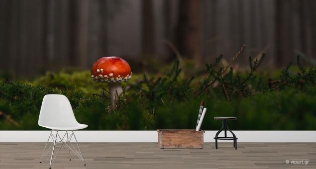 Ταπετσαρία Τοίχου Mushroom Forest
