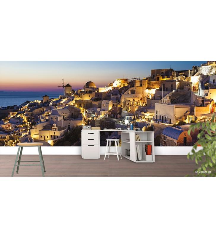 Ταπετσαρία Τοίχου Evening In Santorini