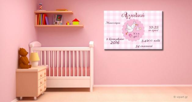 Kαμβάς Για Μωρά Πελεκάνος Girl