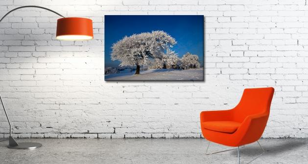 Καμβάς Δέντρο Χιονισμένο Τοπίο