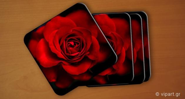 Σουβερ 6 τεμάχια Τριαντάφυλλο