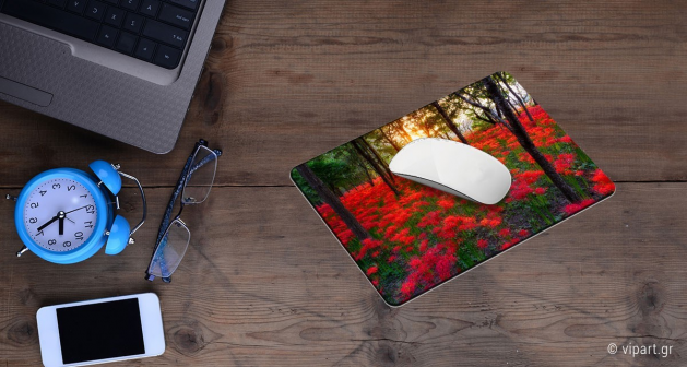 Mousepad 2 τεμάχια Κόκκινα Λουλούδια Στο Δάσος