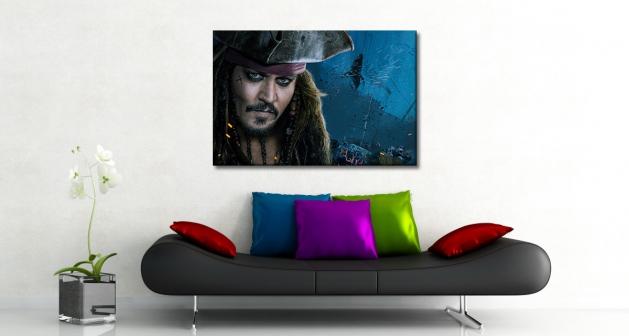 Πίνακας Καμβάς Johnny Depp captain jack