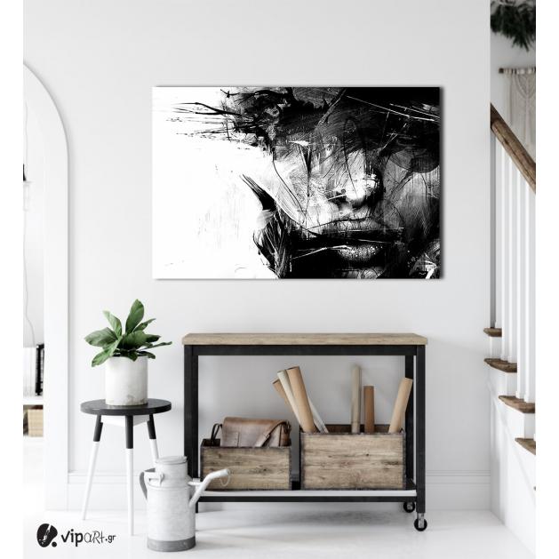 Πίνακας σε Καμβά : Black and White Face Art