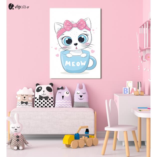 Πίνακας Καμβάς Kitty- Meow