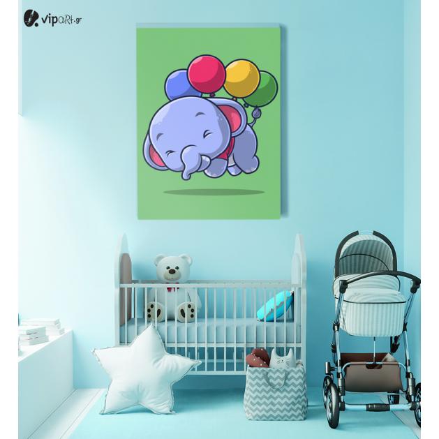 Πίνακας Καμβάς Elephant with balloons