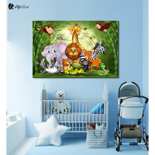 Πίνακας Καμβάς Happy Animals