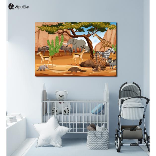 Πίνακας Καμβάς Animal Safari