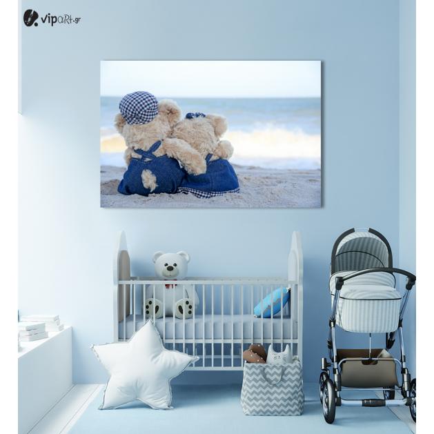Πίνακας Καμβάς Ηλιοβασίλεμα Bears in Love