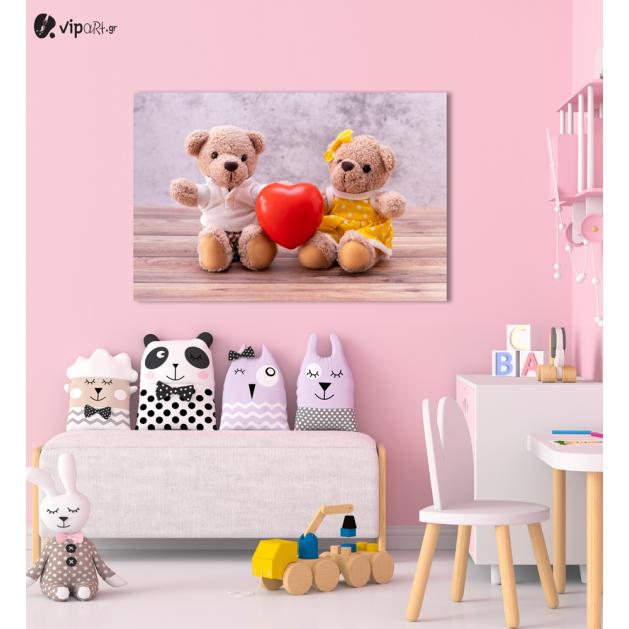 Πίνακας Καμβάς Cute Teddy Bears
