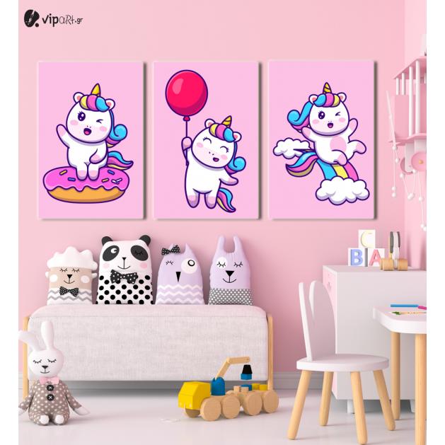 Πίνακας Καμβάς Happy Little Unicorn
