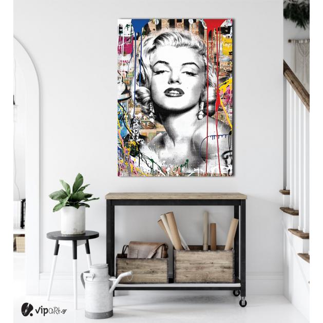 Πίνακας Καμβάς Marilyn Monroe- Colorful Art