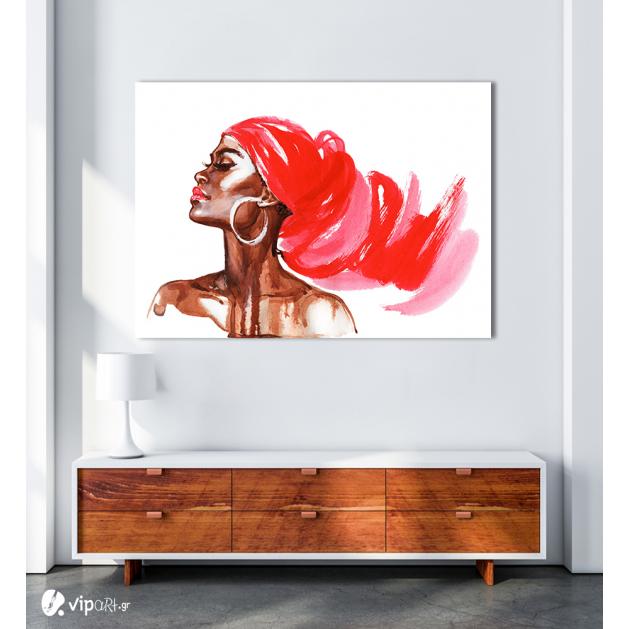 Πίνακας Καμβάς Fashion Woman Watercolor