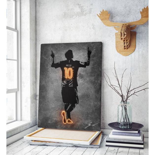 Πίνακας ΚαμβάςLionel Messi Neon Art