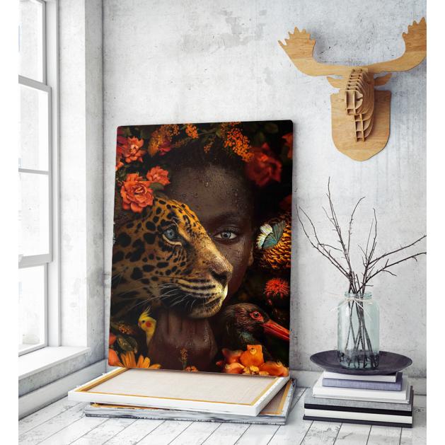 Πίνακας σε Καμβά Tiger Girl