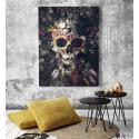 Πίνακας σε Καμβά Flower Skull Art