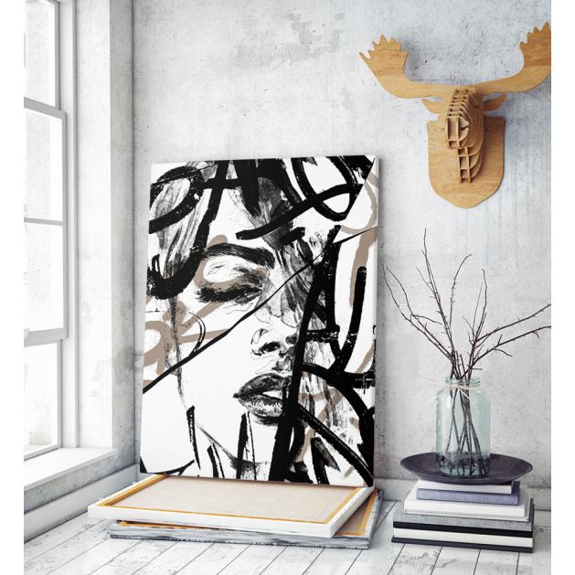 Πίνακας σε Καμβά Abstract Woman art