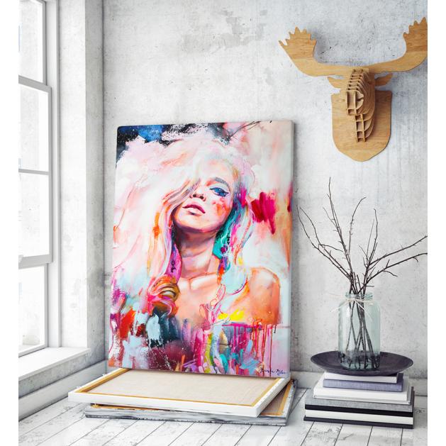 Πίνακας Καμβάς Colorful Woman Art