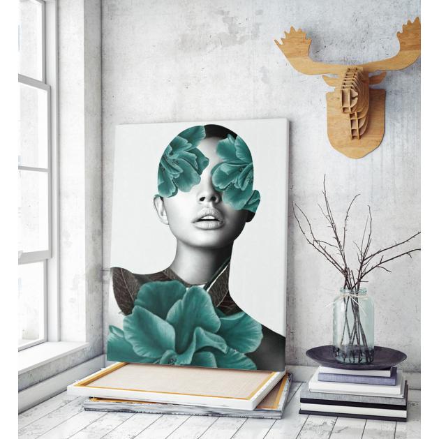 Πίνακας Καμβάς Floral Portrait Woman