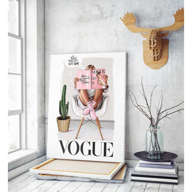 Πίνακας Καμβάς Vogue Poster Girl