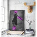 Πίνακας σε Καμβά LeBron James Jump Neon Art