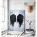 Πίνακας σε Καμβά Banksy Φτερά Αγγέλου Μαύρα