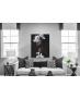 Πίνακας σε Καμβά Romantic Girl White Flowers