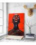 Πίνακας σε Καμβά Afro Woman with Earrings