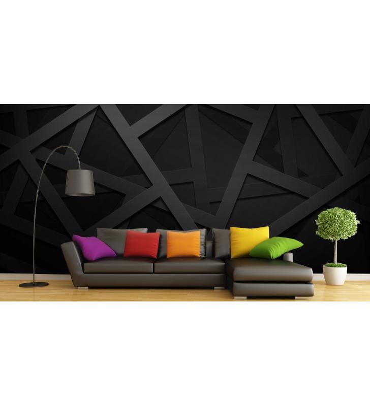 Ταπετσαρία Τοίχου Γεωμετρικά Σχήματα Μαυρα