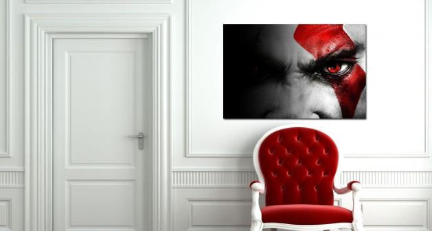 Καμβάς Red Eye Ασπρόμαυρο