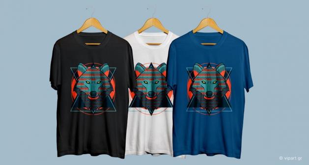 Εκτύπωση σε μπλουζάκι Wolf Art Design