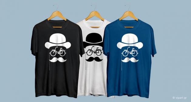 Εκτύπωση σε μπλουζάκι Hipster Style Retro Hut Bike
