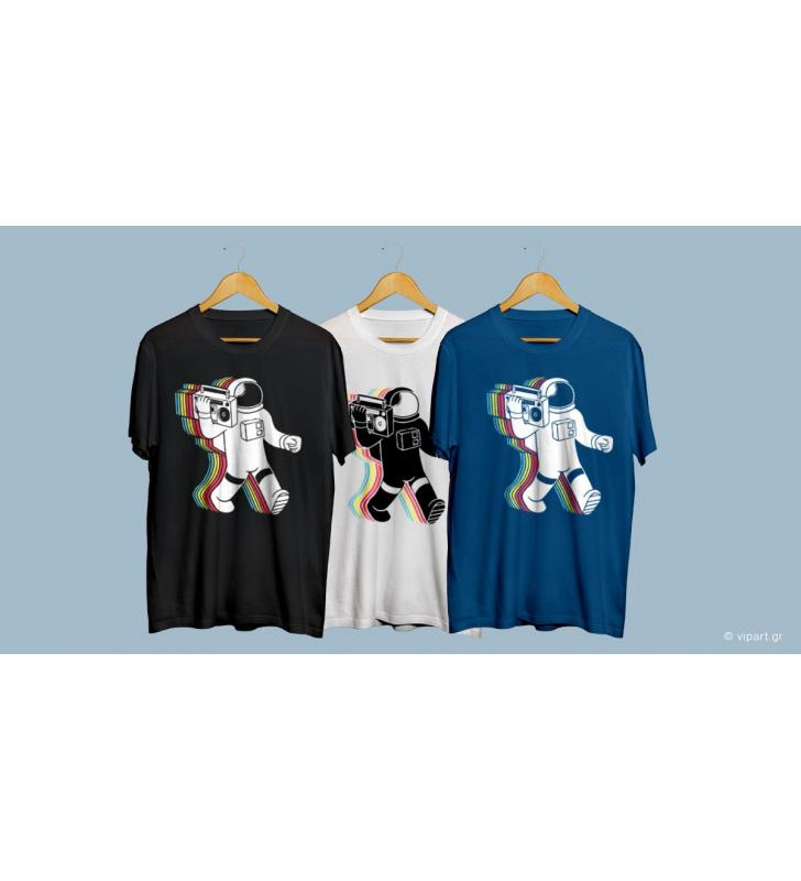 """Εκτύπωση σε μπλουζάκι """" Μουσική στο διάστημα """""""