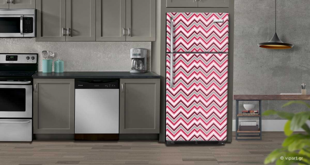 """Αυτοκόλλητο Ψυγείου """"Retro Style  Waves  """""""