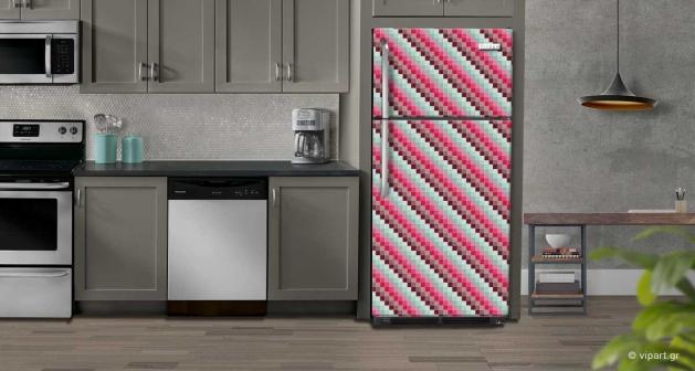 """Αυτοκόλλητο Ψυγείου """" Retro Style Pixel """""""