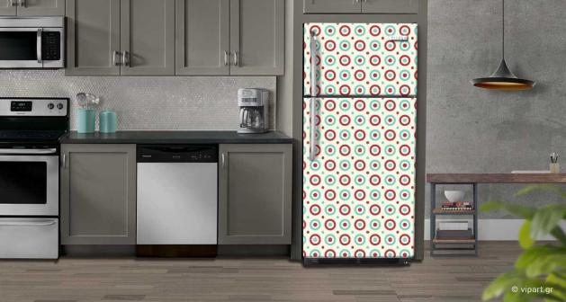 """Αυτοκόλλητο Ψυγείου """" Retro Style Geometric Polygon """""""